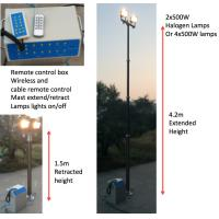 Quality 4.2m lighting tower/ pneumatic lighting masts/ remote control lighting tower wholesale