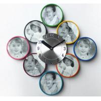 China New Arrival for Colorful Metal Picture Frame with Quartz Wall Clock on sale