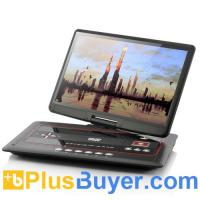 China 15.6 Inch Swivel Screen Portable DVD Player with Media Copy Function on sale