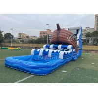 China Commercial Pirate Ship Slides Inflatable Water Games With Pool on sale