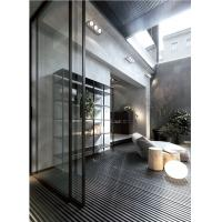 Quality Narrow Black Frame Aluminum Glass Sliding Door philippines price and design wholesale