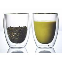 China Double Wall Personalized Glass Cup / Custom Made Glass Cups OEM Service on sale
