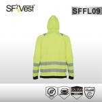 EN ISO 20471 zipper closure fleece hoodie jacket high visibility apparel