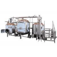 Quality Hotel / Brewhouse Copper Beer Brewing Equipment Inner Surface Mirror Polish wholesale