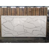Quality Elegant Design Calacatta Quartz Countertops , Luxury White Quartz Vanity Top wholesale