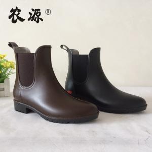 Quality Cheap Colorful Ladies Ankle PVC Rain Boots, Pvc boots Women Sizes 36-42# wholesale