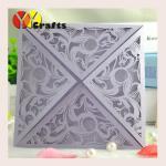 Quality Best Selling Light Purple Folded Wedding Invitation Cards Design wholesale
