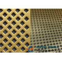 Quality Brass Perforated Metal Mesh for Decoration & Filter, With High Strength wholesale