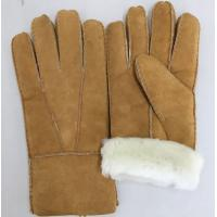 Quality comfortable sheepskin double face fur shearling women gloves wholesale