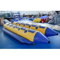 Quality 10 Persons Double Tubes Inflatable Banana Boat With Commercial Grade PVC Tarpaulin wholesale