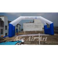 Quality customized giant 10m wide free standing inflatable entrance arch with 4 legs for event wholesale