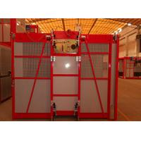 Quality Red 1000kg Material / Passenger Hoist With Single Cage, High Reliability wholesale