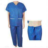 Buy cheap Clinic Disposable Protective Gowns , V Neck Operating Room Scrubs Uniforms from wholesalers