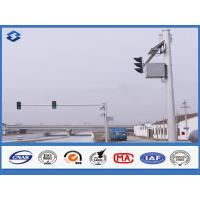 Buy cheap 6m Crossroad traffic light post Joint with insert mode , outdoor light pole from wholesalers