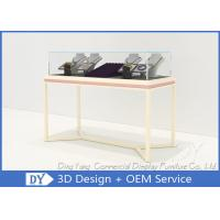 Quality Pre Assemble Wood Glass Jewelry Showcases Fixtures For Jewelry Shop Display wholesale