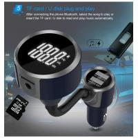 Cheap FM Transmitter Bluetooth Car Charger / Wireless Car Adapter For Car Audio Radio for sale