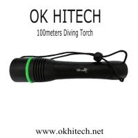 China Diving Torch flashlight CREE LED 1000Lumens on sale