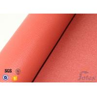 Quality 1010g Red Silicone Coated Fiberglass Fabric 1mm Electrical Insulation Durable wholesale