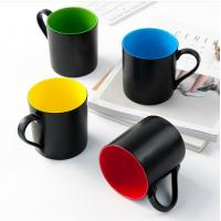 Quality certification SGS/CE No.9910 for 2018 new items style custom 45% Ashes bone china black colors coffee mug wholesale
