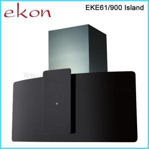 Quality 90cm Black Glass Island Kitchen Cooker Hood wholesale