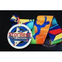 China Star Logo Round Shape And Dancing Despoke Custom Sports Medals With Glitters Colors on sale