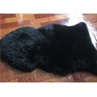 Quality Dyed Black Sheepskin Fleece Blankets Soft Warm For Children Room Bed Decoration  wholesale