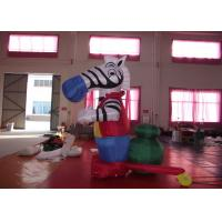 China Blow Up Advertising Signs Strong PVC Nylon , Beautiful Giant Inflatable Zebra 3mh on sale