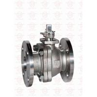 Quality 2 Piece Reduced Bore Ball Valve Anti - Blow Out Stem In Water Oil Gas wholesale