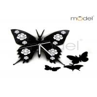 Quality DIY Black Butterfly Creative Wall Clocks Kids Room Decoration Wall Clocks wholesale