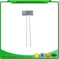 Quality Metal Flower Garden Plant Markers /  Labels Silver Color Zinc Coated wholesale