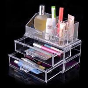 Quality Non-toxicity Acrylic Cosmetic Display / Portable acrylic makeup box wholesale