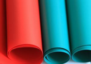 Quality PVC Laminated Tarpaulin Glossy Fire Retardant 1100GSM 2.06*50m Material wholesale