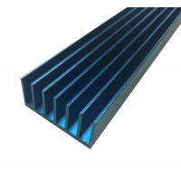 China LED Extruded Aluminum Heat Sink Profile Blue Anodized Square Shape on sale