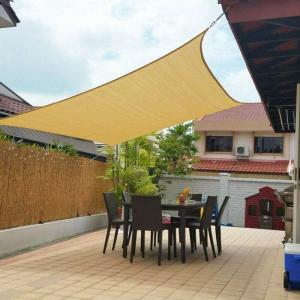 China 185gsm Waterproof And Uv Resistant Sun Shade Sail Canopies 16x16 5x5 on sale