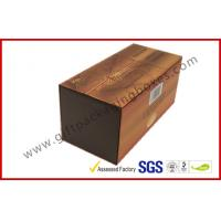 Quality Brown Food Grade Cigar Gift Paper Box  with Tissue Paper Printed wholesale