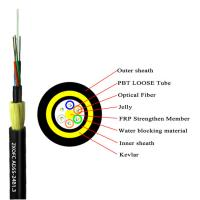 Cheap Reinforced Kevlar ADSS Optical Cable Light Weight Large Span Lengths for sale