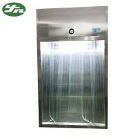 Quality Stainless Steel Laminar Air Flow System Sampling Booth With Antistatic Curtain Door wholesale