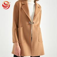 China Formal Single Breasted Winter Camel Wool Coat For Ladies Fashion Style on sale