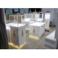 Quality Retail Shop Museum Display Cases High Glossy White Color 12V Output Power wholesale