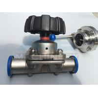 Cheap High quality stainless steel sanitary pneumatic diaphragm valve 316L DN25 Tank for sale