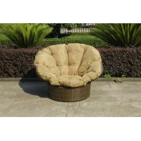 Quality Home Garden Wicker Lazy Chair With Powder Coated Aluminium Frame wholesale