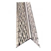 Quality Drywall Aluminium Angle Bead Round Nose Metal With Diamond Mesh Wings Width 30MM wholesale