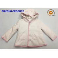Quality Trendy Toddler Hooded Jacket , 100% Polyester 3 Layers Baby Girl Hooded Jacket wholesale