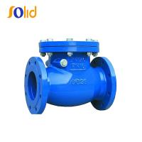 China Ductile cast iron double flanged swing check valve PN16 for water supply on sale