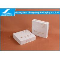 White Square Paper Cosmetic Packaging Boxes , Rigid Cardboard Gift Packaging Box