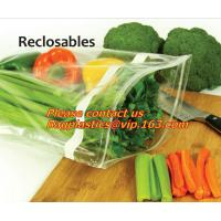 Quality Food Vegetable Storage Bag Airtight Zip Lock Bags, Clear Zip Lock Bags Zipper Poly Bags with Rectangle Unilateral 0.03 m wholesale
