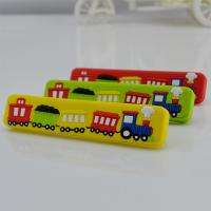 Quality Train children bedroom cabinet handle, kids bedroom furniture handle, soft plastic handles wholesale