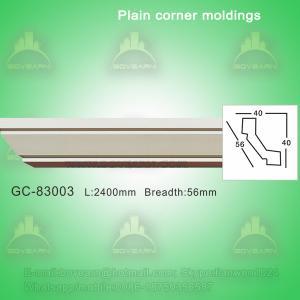 Quality Green durable PU plain ceiling crown moulding wholesale