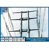China Q345 Overlap Type Conical Tapered Pole With Climbing Ladder Waterproof on sale
