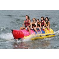 Quality Inflatable Banana Boat For 5 Persons , Inflatable Towable Water Tube wholesale